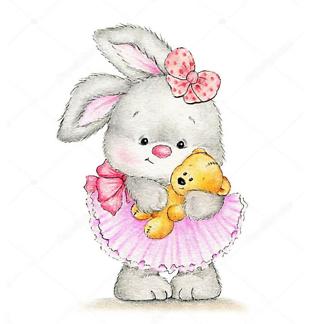 Постер Кролик с медвежонком