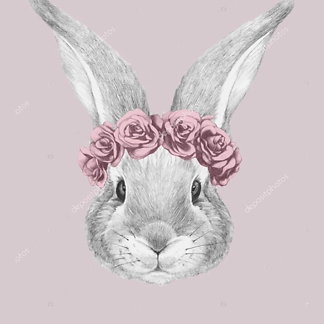 Кролик с лейкой