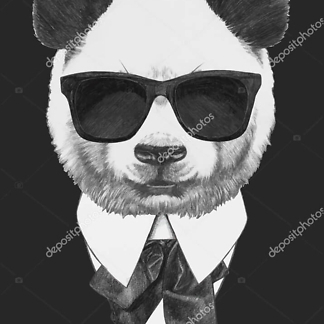 Постер Панда в черных очках