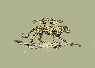Постер Леопард винтаж  - фото