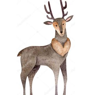 Постер Лесной олень