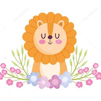 Цветной рисунок львицы