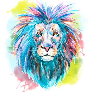 Постер Лев яркий