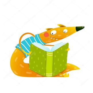 Постер Лис с книгой