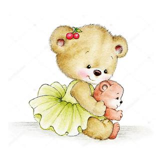Постер Мама с медвежонком
