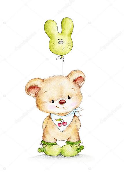 Постер Медвежонок с воздушным шаром  - фото 2
