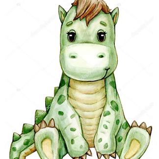 Постер Желтый динозавр