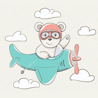 Мишка на самолете