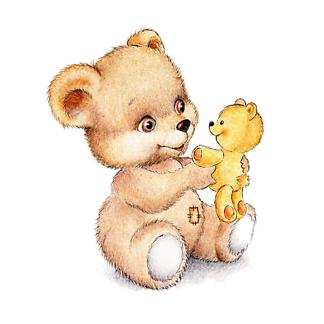 Постер Мишка с плюшевой игрушкой