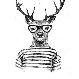 Постер Олень в жаккардовым пуловером
