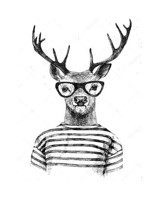 Постер Модный олень  - фото