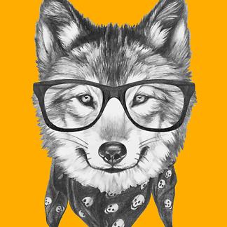 Постер Модный волк