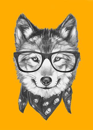 Постер Модный волк  - фото