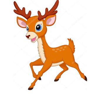 Постер Мультяшный олень