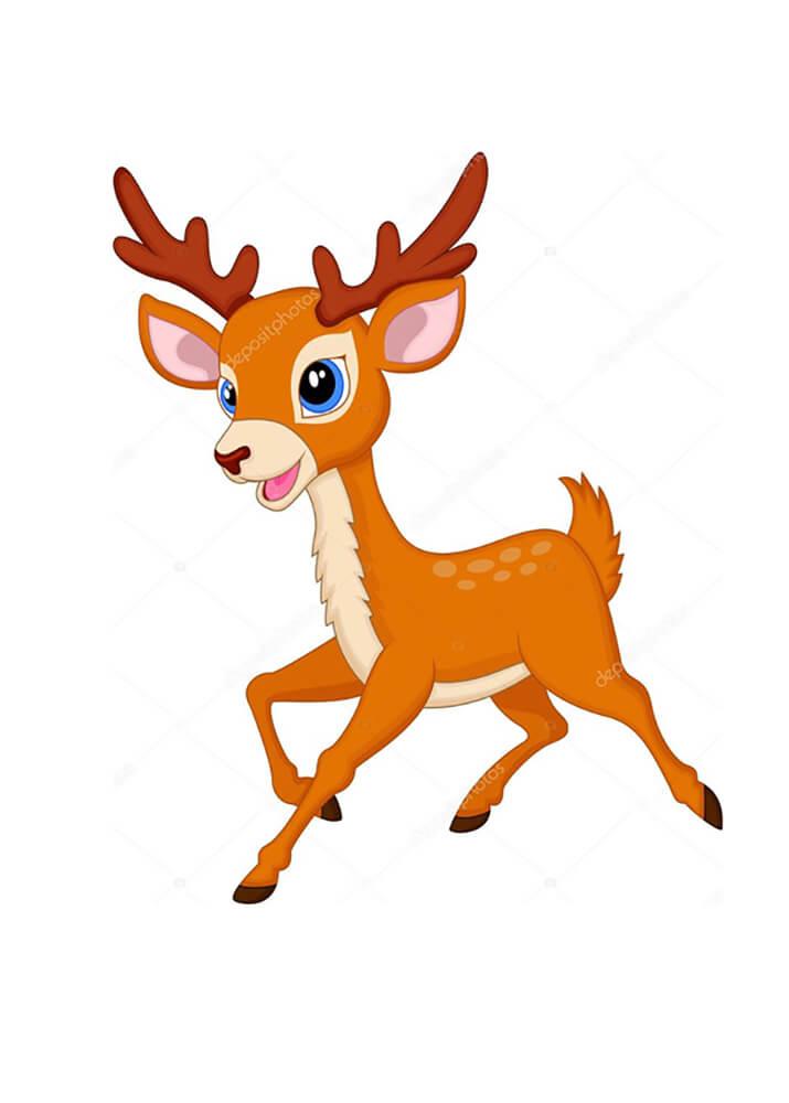 Постер Мультяшный олень  - фото