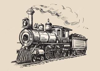 Постер Нарисованный поезд  - фото