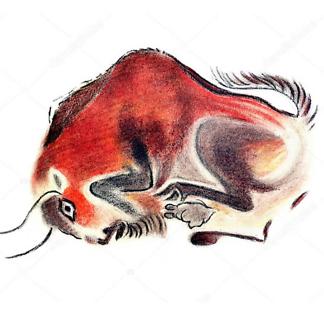 Наскальный рисунок бизона