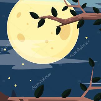 Постер Ночной лес