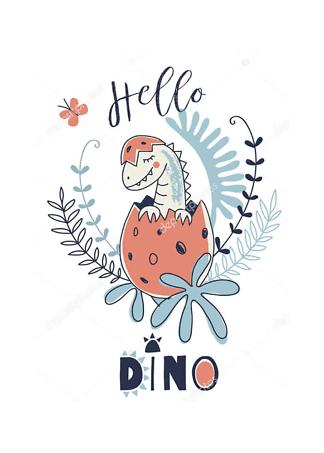 Постер Новорожденный динозаврик  - фото