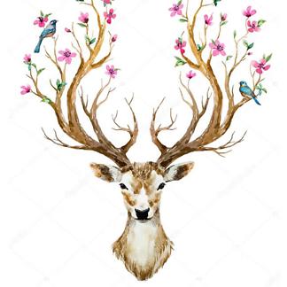 Постер Олень с цветущими рогами