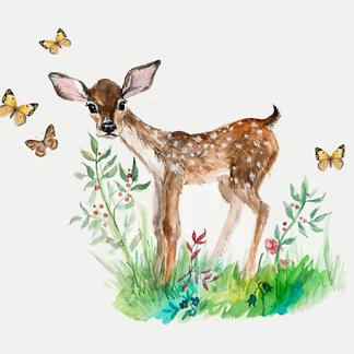 Постер Красный олень