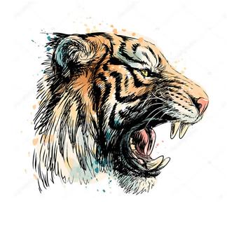 Постер Оскал тигра