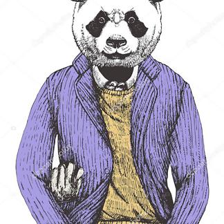 Постер Панда в пиджаке
