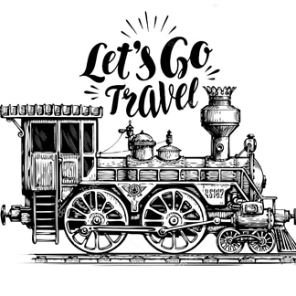Постер Поезд Let's go travel