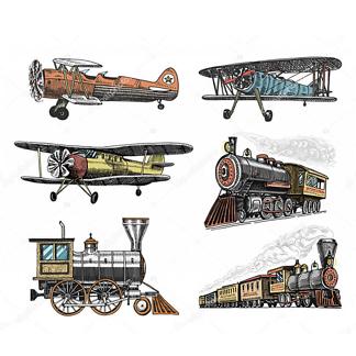 Постер Поезда и самолеты