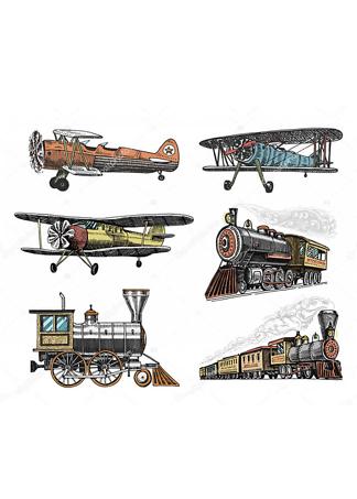 Постер Поезда и самолеты  - фото
