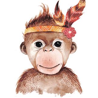Портрет обезьянки