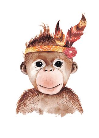 Портрет обезьянки  - фото