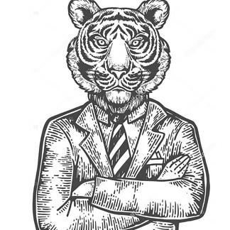 Постер Решительный тигр
