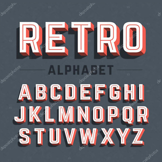 Постер Ретро алфавит