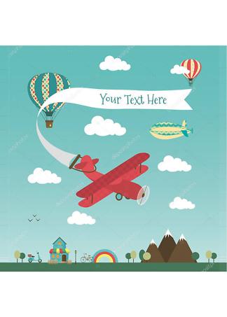 Постер Ретро самолет  - фото