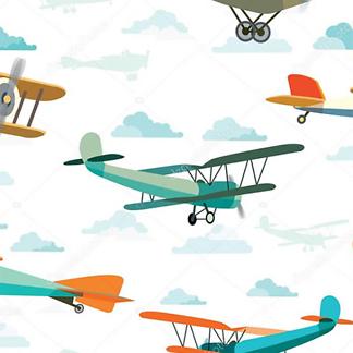 Постер Синий самолет