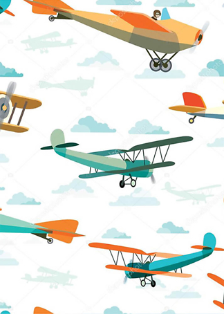 Постер Ретро самолеты  - фото