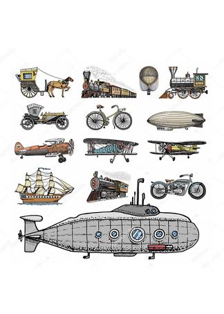 Постер Ретро транспорт-2  - фото