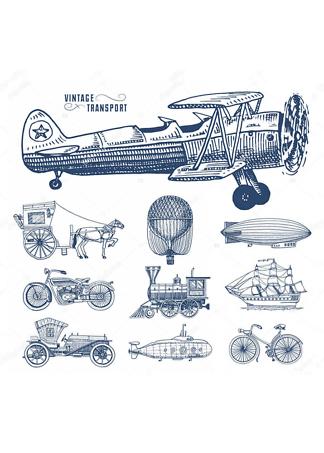Постер Ретро транспорт  - фото