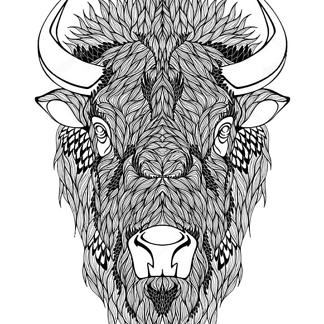 Рисунок бизона