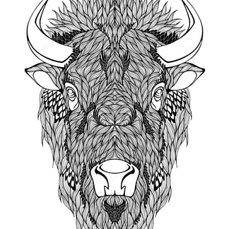 Постер Рисунок бизона
