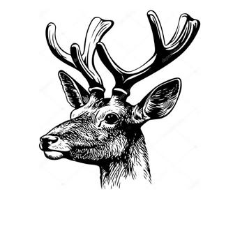 Рисунок головы оленя