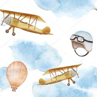 Самолеты и воздушный шар