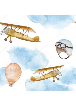 Постер Самолеты и воздушный шар  - фото