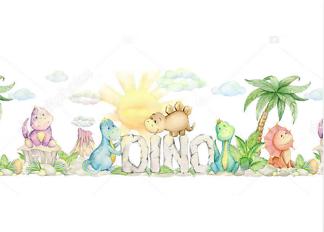 Постер Симпатичные динозавры  - фото