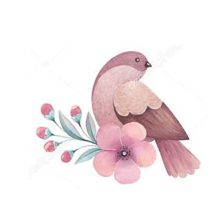 Постер Сиреневая птица -1