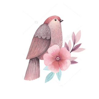 Постер Сиреневая птица -2