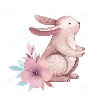 Постер Сиреневый кролик — 1