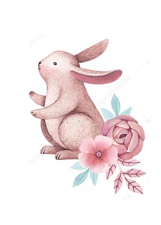 Постер Сиреневый кролик — 2  - фото