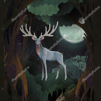 Постер Сказочный олень